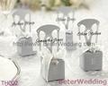 Miniature Silver Chair Favor Box w/