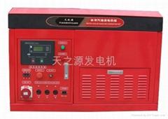 15KW汽油四缸水冷静音型发电机组小区用