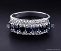天然蓝宝石戒指