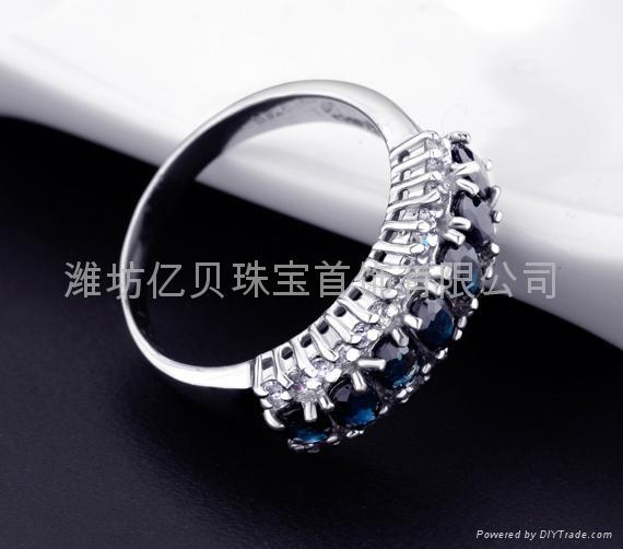 天然蓝宝石戒指  2