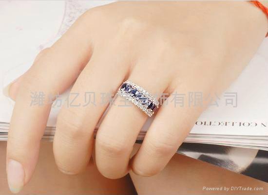 天然蓝宝石戒指  3
