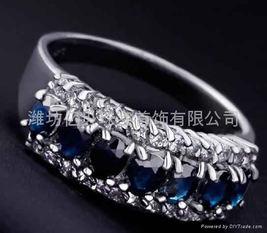 天然蓝宝石戒指  4