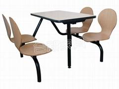 連體食堂桌椅