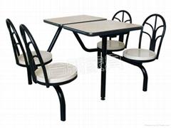 连体快餐桌椅