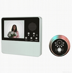"3.2"" Video Doorbell  Door Viewer Door Camera Peephole ViewerTake Photos"