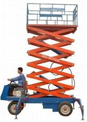 四轮移动式升降机