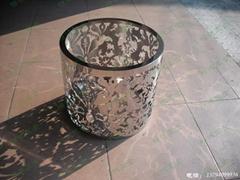 不鏽鋼雕花圓茶几架