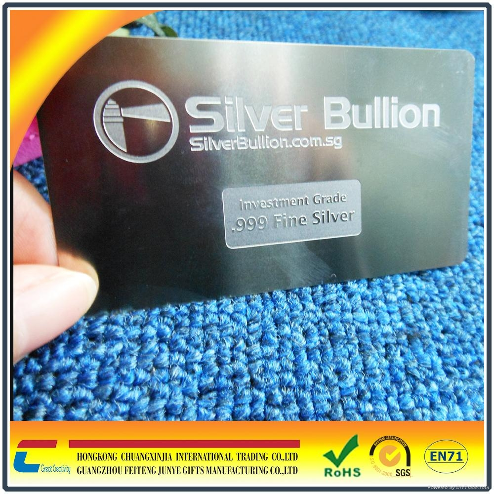 Hot!!!Etched stainless steel business cards,stainless steel metal ...