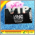 Hot!!! Luxurious black metal VIP card for your VIP customer