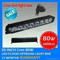 80W 4x4 led driving light bar for atv utv  auto part
