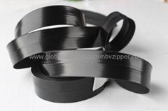 5# Black Waterproof Import Zipper, Shiny Finish