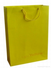 Green Recycle Printed Paper Bag