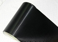 Carbon fiber with air free black car sticker vinyl size 1.52*30M 2013 hot sell