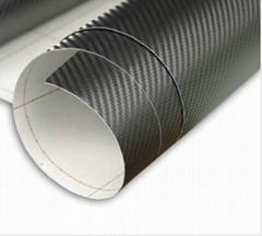 Carbon fiber without air free black car sticker 1.52*30m hot sell
