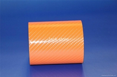 1.52*30m orange 4D carbon fiber body parts Free Shipping
