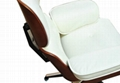 LEATHER CHARLES EAMES STYLE LOUNGE CHAIR AND OTTOMAN 2