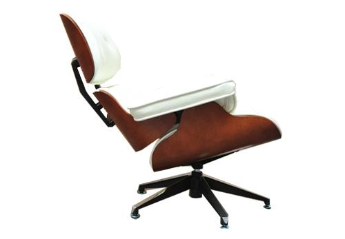 LEATHER CHARLES EAMES STYLE LOUNGE CHAIR AND OTTOMAN 4