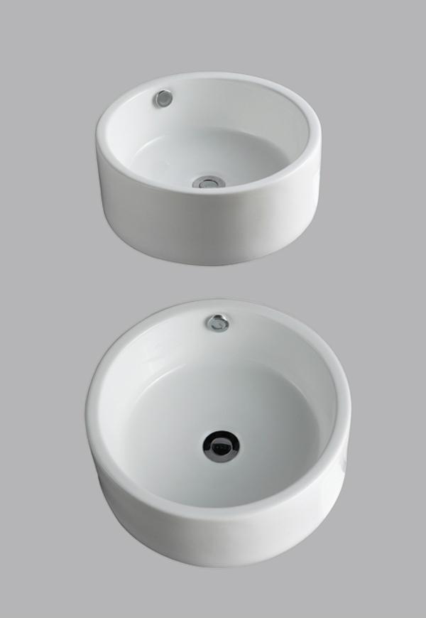 BASIN SINK BATHROOM CLOAKROOM COUNTER TOP CERAMIC CLIPPERBUILT