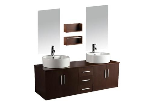 Mfc Grey Oak Wall Hung Bathroom Cabinet Vanity Unit