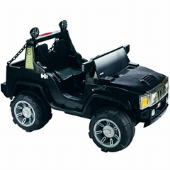 KIDS RIDE ON ELECTRIC CARS BLACK HUMMER CHILDREN TOY 12V BATTERY DUAL MOTOR