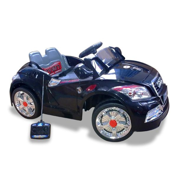 kids ride on electric cars black audi children toy 6v battery remote control
