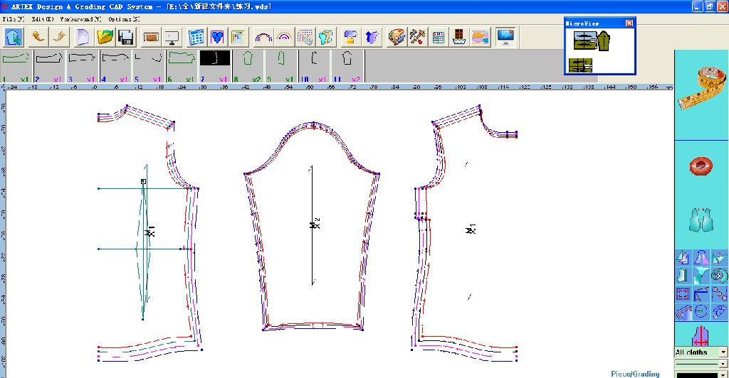Pattern Design And Grading Cad System No Artex China