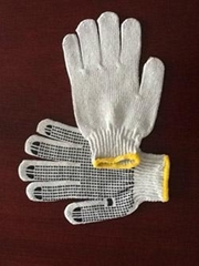pvc dot gloves