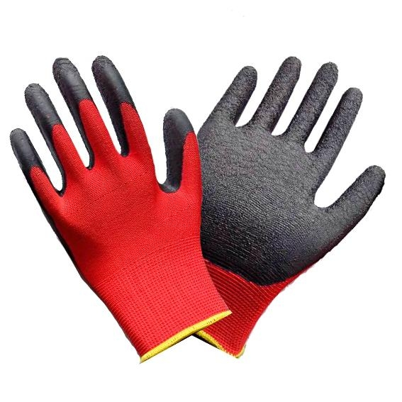 10G Factory produce latex coated glove 1