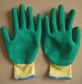 10G Factory produce latex coated glove 2