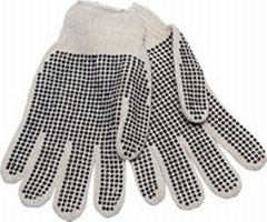 String Knitted PVC Dotted Glove
