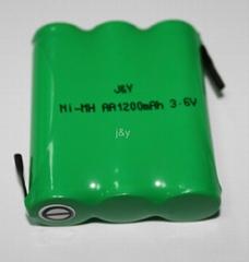 ni-mh   AA 1200mah 3.6V  rechargeable  battery