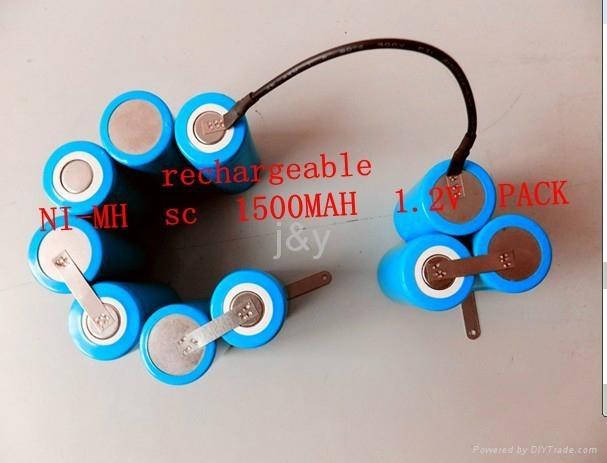 ni-mh  SC1200--3600mah 1.2V  rechargeable  battery  1