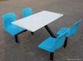 玻璃鋼餐桌椅 1