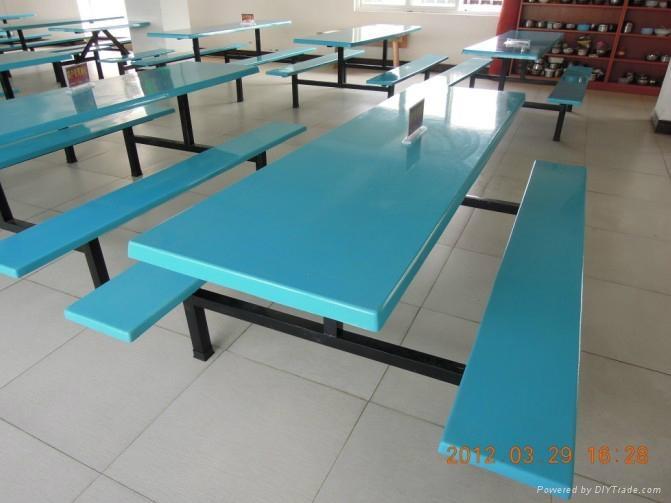 玻璃鋼餐桌椅 2