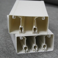 PVC compartment trunking for cable, floor trough