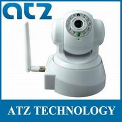 Wireless IP Camera M-JPEG WIFI Pan/Tilt 2-way Audio IR 20m White