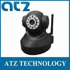 Wireless IP Camera H.264 WIFI Pan/Tilt 2-way Audio IR 20m Black