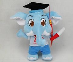 plush newest design graduated elephant kids toy