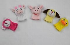 plush baby& kids funny finger puppet animal toys