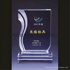 深圳水晶奖牌