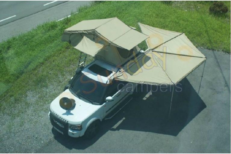 Roof Top Tent with fox awnings - 4 WD fox awning - Sunday ...