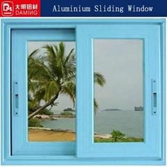 double glazed sliding window powder coating