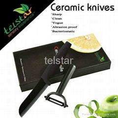 Black ceramic knife suit