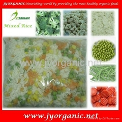 Frozen mixed organic rice and vegetables