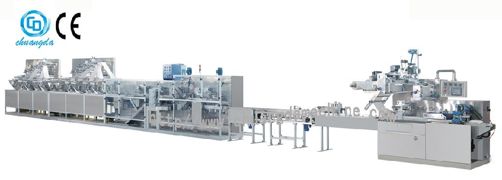 CD-2000 Full automatic wet tissue machine 1
