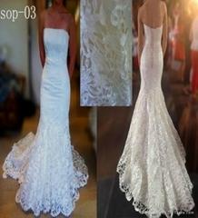 superior elegant unique lace mermaid wedding dress 2013