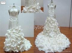 2013 Unique Luxury  mermaid  Champagane  ivory  wedding dresses