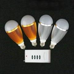 无线遥控调光球泡灯  7W