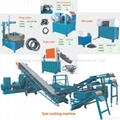 New generation tyre recycling machine