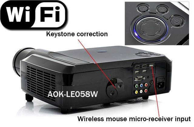Android 4 0 wifi portable digital tv led projectors 3d for Pocket digital projector